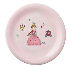 Mila Prinzessin Teller Geschirr – Keramik Teller - Durchmesser 22 cm