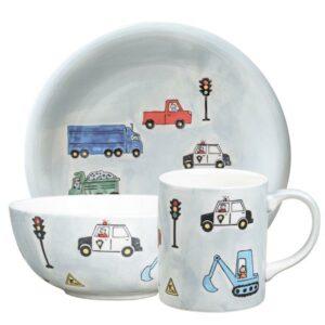 Mila Road Traffic Sammler Set Autos - Becher + Teller + Schale 5555232