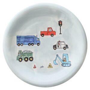 Mila Road Traffic Teller - Keramik - Fahrzeuge Teller 84232