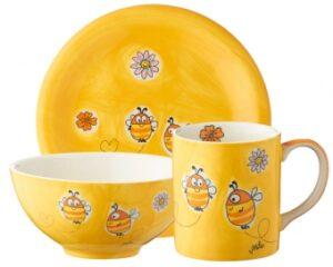 Mila Sammler Set Summ Summ Bienen - Becher + Teller + Schale