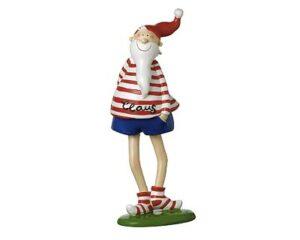 Mila Santa Claus - lustige Weihnachtsmann Figur Sommer weihnachtmann mit blauer Badehose