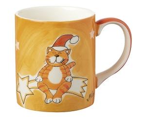 Mila Santa Oommh Becher - Yoga Katze - 280 ml - Tasse - Henkelbecher - Keramik