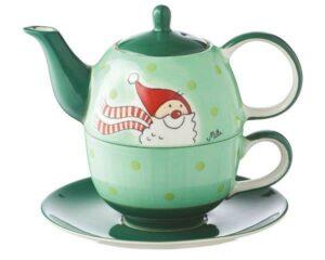 Mila Santa Tea for one - Teekanne 0,4 L mit Tasse und Untertasse + Geschenkverpackung - Keramik 99170
