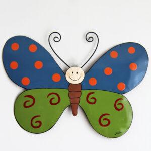 Mila Schmetterling Wandhänger- Metall