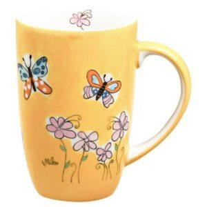 Mila Schmetterlinge Designbecher - 230 ml - Keramik 95226