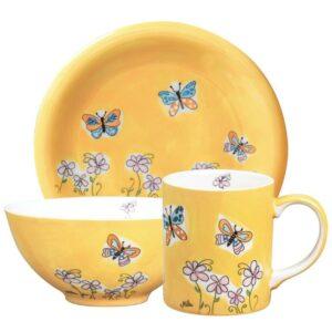 Mila Schmetterlinge Sammler Set - Becher + Teller + Schale