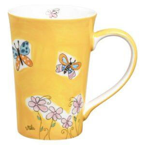 Mila Schmetterlinge Teebecher - 350 ml - Keramik 81226