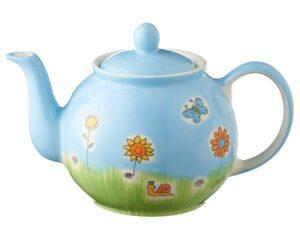 Mila Sommerblume Kanne 1,2 L - Keramik - Blumenwiese Teekanne