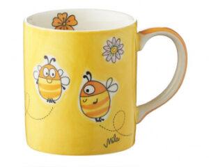 Mila Summ Summ Bienen Becher – Keramik – Kaffeebecher 280 ml