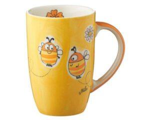 Mila Summ Summ Bienen Designbecher - 230 ml - Tasse - Henkelbecher - Keramik