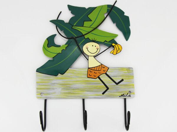 Mila Tarzan - Mila 3er Haken - Tarzan Garderobe - Wandhaken