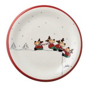 Mila Teamwork Elch Teller - Geschirr - Keramik