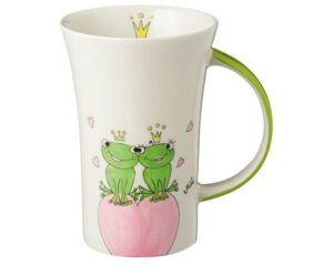 Mila True Love II Becher – 280 ml – Tasse – Henkelbecher – Keramik – Frosch Liebe Becher