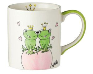 Mila True Love II Becher - 280 ml - Tasse - Henkelbecher - Keramik - Frosch Liebe Becher