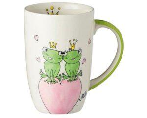Mila True Love II Designbecher - 230 ml - Tasse - Henkelbecher - Keramik - Froschkönig Liebe Degisnbecher
