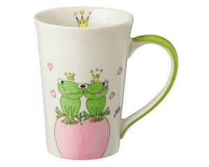 Mila True Love II Teebecher - 350 ml - Tasse - Henkelbecher - Keramik - Froschkönig Liebe Teebecher