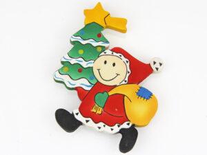 Mila Weihnachtsmann Magnet aus Holz