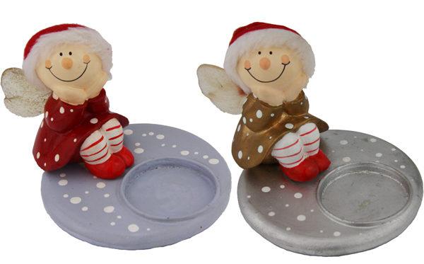 Mila Winterfee Kerzenhalter - winterliche Fee Teelicht
