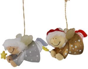 Mila Winterfee fliegend - winterliche Fee Figur zum Aufhängen