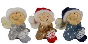 Mila Winterfee sitzend- winterliche Fee Figur