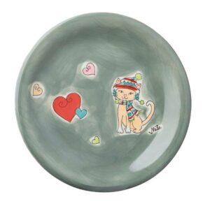 Mila Winterkatze Teller - Geschirr - Keramik