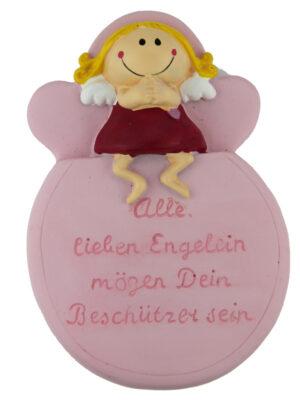 Mila kleines Schutzengel Schild, rosa