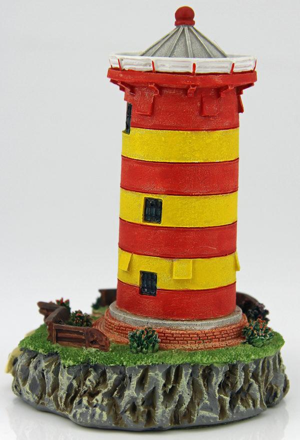 Miniatur Pilsumer Leuchtturm – Wahrzeichen Ostfriesland Rückseite