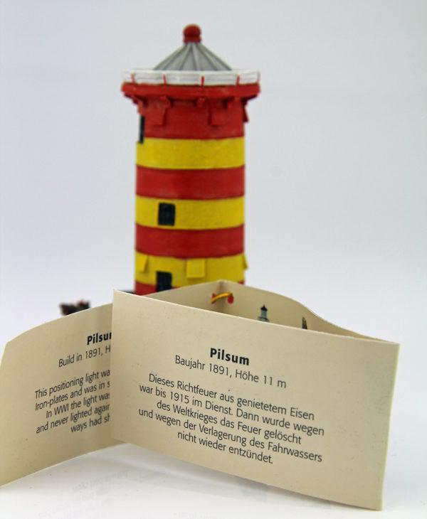Miniatur Pilsumer Leuchtturm – Wahrzeichen Ostfriesland Zettel