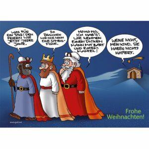 Minikärtchen Weihnachtsmann - eine lustige Karte zur Weihnachtszeit
