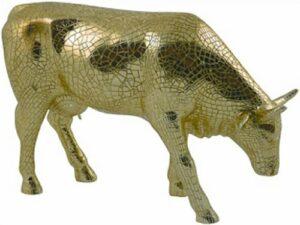 Miro Moo Gold Cowparade Large - goldene Sammlerkuh