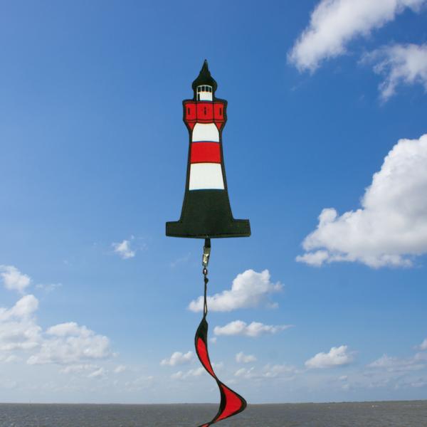 Windspiel Leuchtturm mit Spirale - Nordsee Twister zum Aufhängen