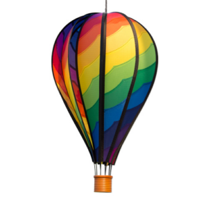 Windspiel Heißluftballon SATORN BALLOON 28 Spiral - Hot Air Balloon Rainbow