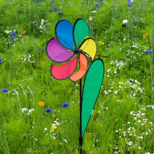 Segel Windspiel Blume Regenbogen - Little Daisy Rainbow Windrad