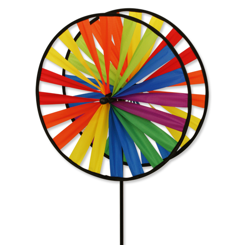 Magic Wheel Twin 45 - Duett Rainbow - Windspiel-Windrad-Regenbogen-Durchmesser 45 cm