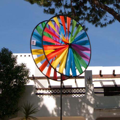 Magic Wheel Giant Duett Rainbow - XXL Windspiel-Windrad-Regenbogen-Segeltuch