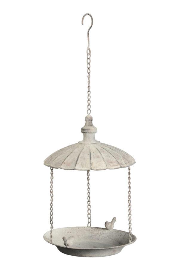 Offenes weißes Vogelfutterhaus zum Aufhängen - nachfüllbares Futterhaus für Körner und Samen 513089-000-802
