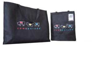 Original Cowparade Bag Fleece Tasche Kuh Shoppingtasche, Umhängetasche, Schultertasche Stoff