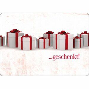 Gutscheinkarte ... geschenkt! - christliche Postkarte mit alternativen Geschenkvorschlägen