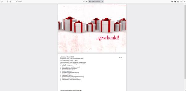 Wunschkarte Postkarte Gutscheinkarte - Geschenkarte mit Wünschen zum ankreuzen