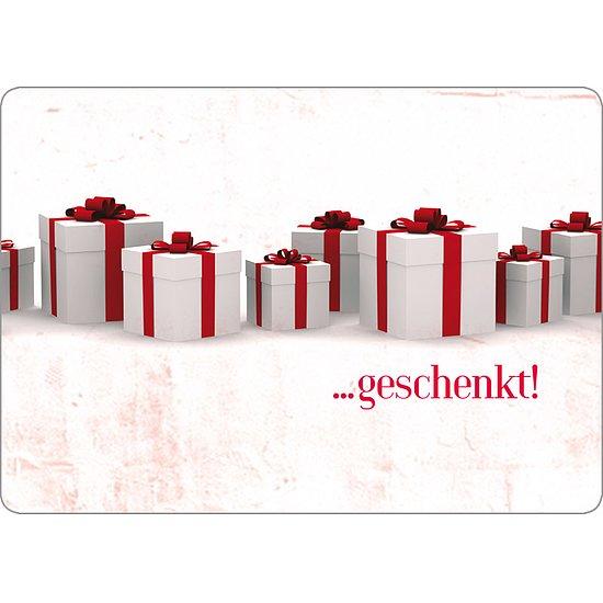 Postkarte Gutscheinkarte - Geschenkarte mit Wünschen zum ankreuzen