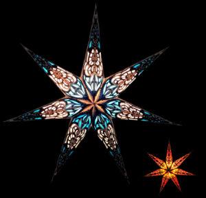Papierstern 7 Zacken Sumita Leuchtsterne 60 cm