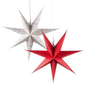 Papierstern Polaris - 60 cm Leuchtstern mit 7 Zacken