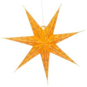 Papierstern orange Polaris - 60 cm Leuchtstern mit 7 Zacken