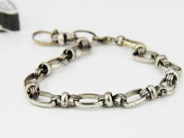 Pilgrim Charms Armband detailreiche ovale Elemente - robustes Bettelarmband