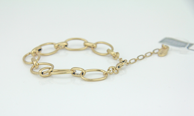 Pilgrim Charms Armband mit großen ovalen Elementen - Bettelarmband gold