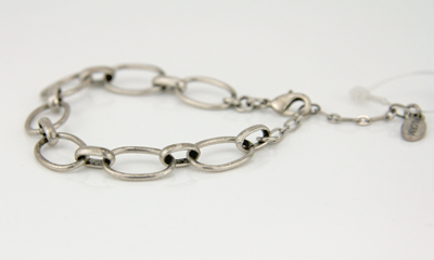 Pilgrim Charms Armband mit großen ovalen Elementen - Bettelarmband silberPilgrim Charms Armband mit großen ovalen Elementen - Bettelarmband silber