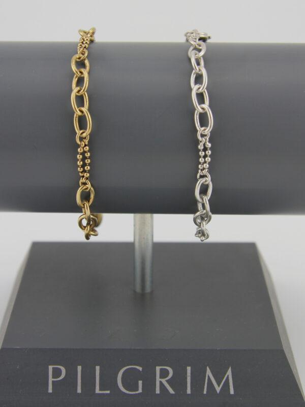 Pilgrim Charms Bettelarmband in gold oder silber