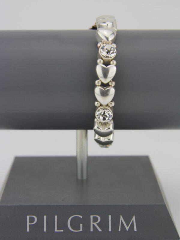 Pilgrim Herz Armband mit Kristallen Pilgrim 609002