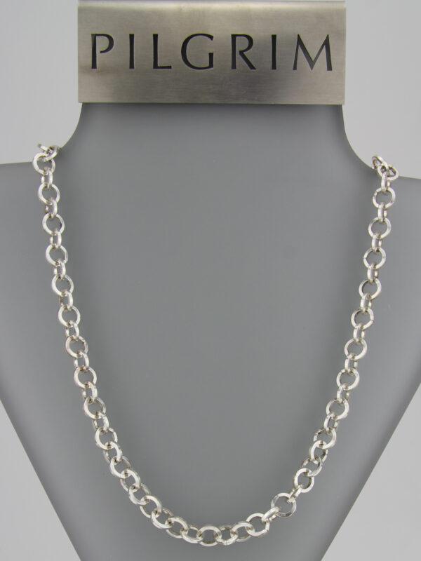 Pilgrim Kette große Elemente silber- lange Bettelkette - platinoptik Pilgrim 444788
