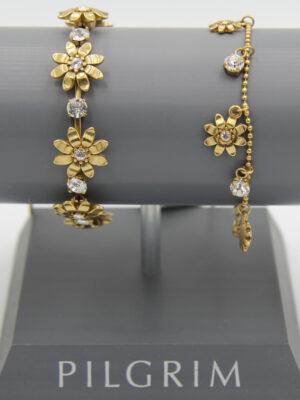 Pilgrim Kristall Blüten Armband gold #flowerOne